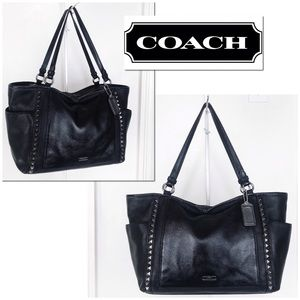 Coach Carrie Large Park Pyramid Stud Carryall Tote